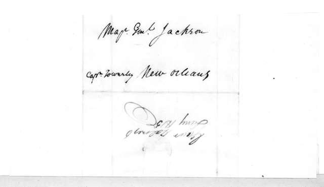David Holmes to Andrew Jackson, January 6, 1815