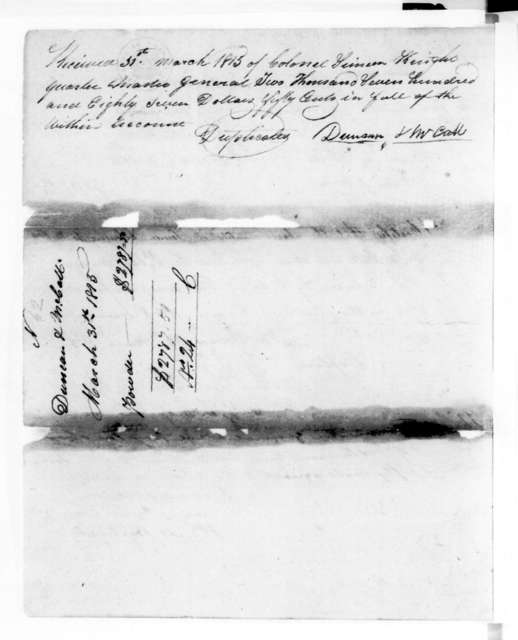 Duncan & McCall to Simeon Knight, March 31, 1815
