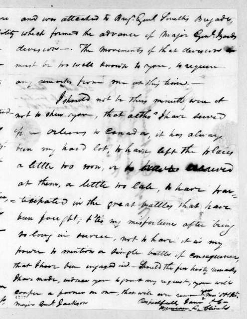 Duncan Lamont Clinch to Andrew Jackson, August 30, 1815