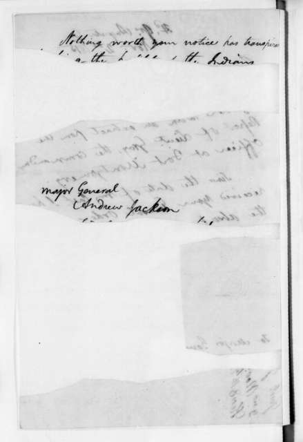 Edmund Pendleton Gaines to Andrew Jackson, November 2, 1815