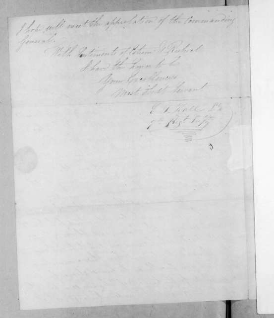 Elisha T. Hall to Andrew Jackson, February 1, 1815