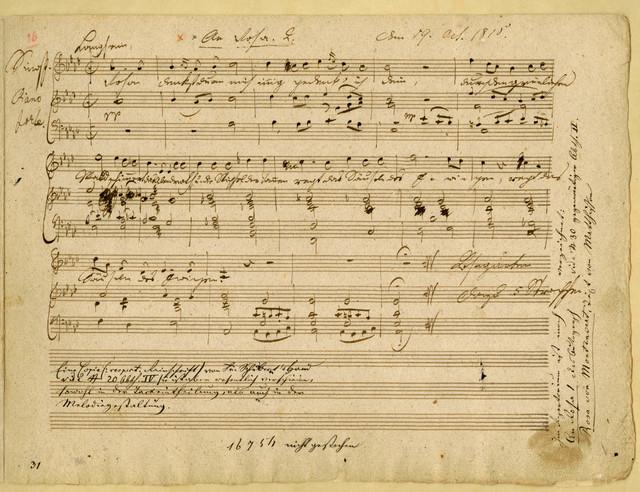 [Four Songs], Nachtgesang, An Rosa I, An Rosa II, Idens Schwanenlied, 19 Oct. 1815