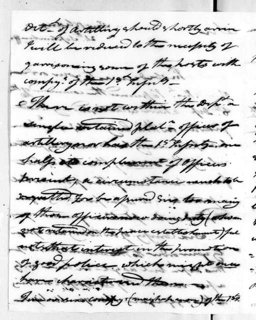 George Croghan to Andrew Jackson, September 24, 1815