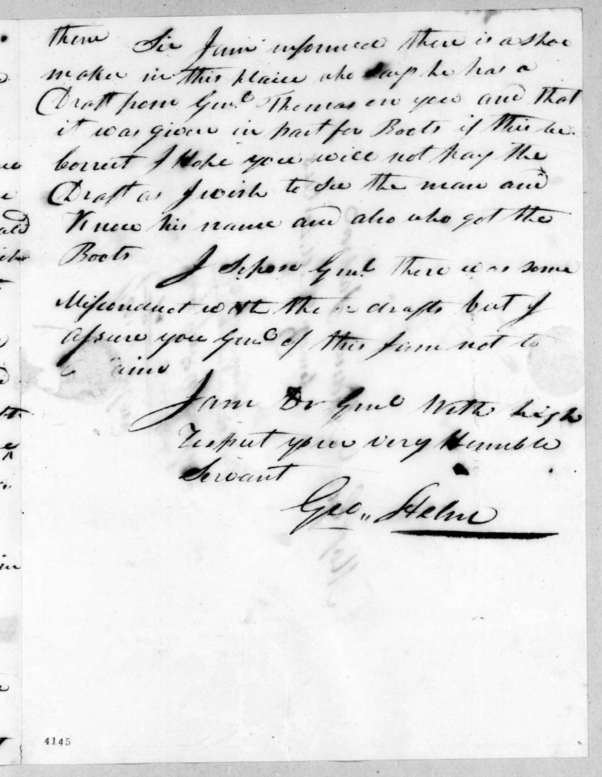 George Helm to Andrew Jackson, August 15, 1815