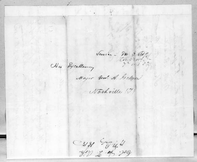 George Thompson Ross to Andrew Jackson, July 17, 1815