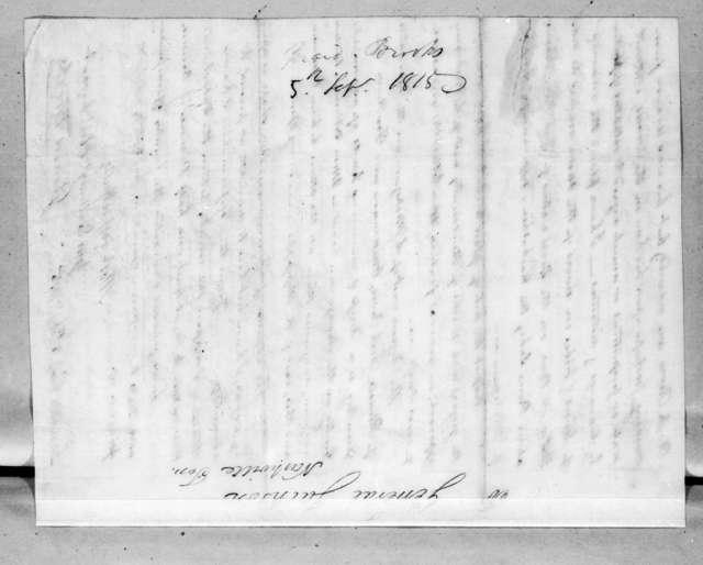Gerard Brooks to Andrew Jackson, September 5, 1815