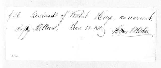 H. F. Fletcher to Robert Hays, June 13, 1815