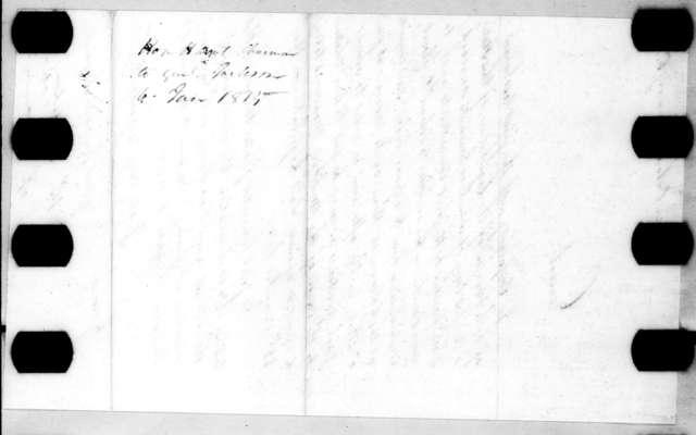 Hatch Dent to Andrew Jackson, January 6, 1815