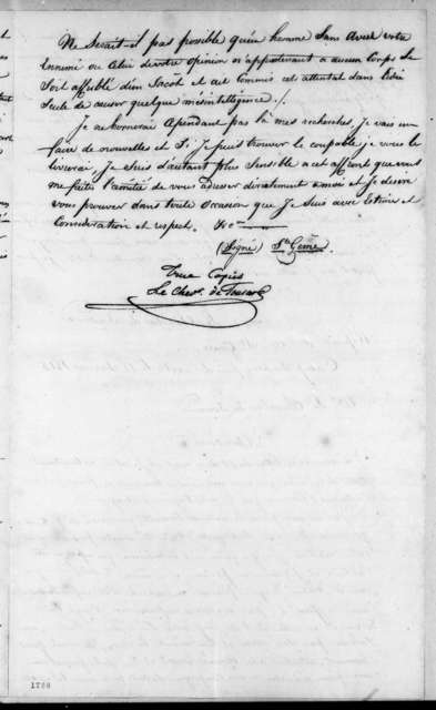 Henri de Saint Geme to Louis de Tousard, January 16, 1815