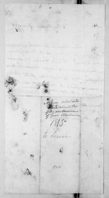 Henry Chotard, March 23, 1815