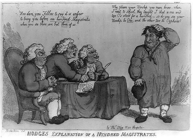 Hodges explanation of a hundred magistrates / Rowlandson, del.