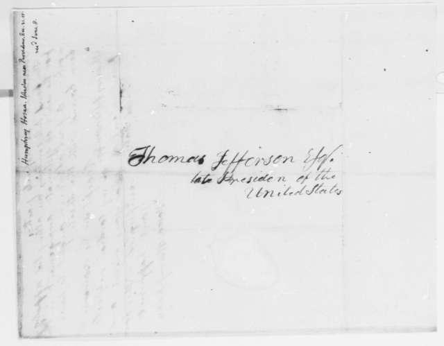 Hosea Humphreys to Thomas Jefferson, December 31, 1815