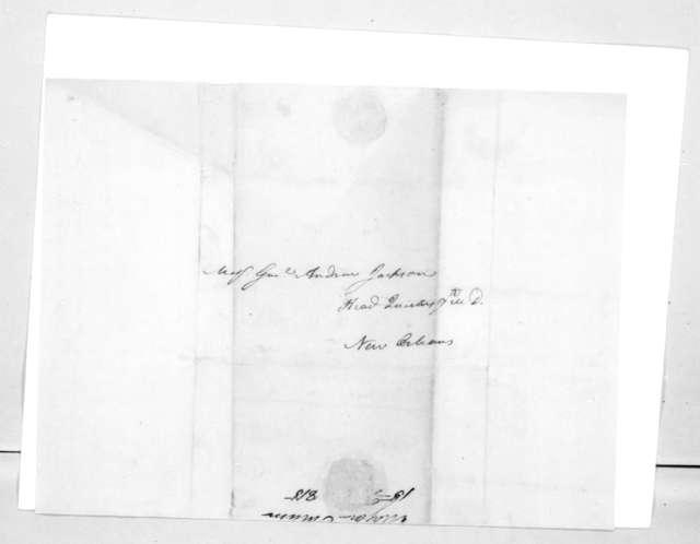 Howell Tatum to Andrew Jackson, February 15, 1815