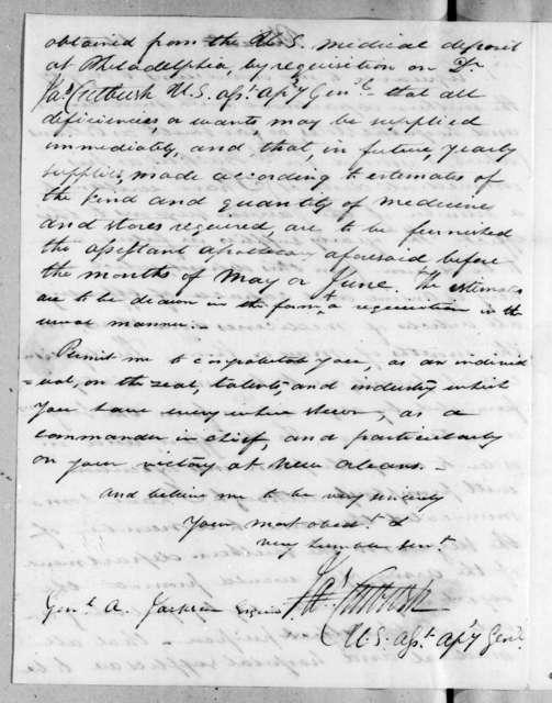 James Cutbush to Andrew Jackson, August 1, 1815