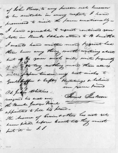 James Jackson to Andrew Jackson, January 13, 1815