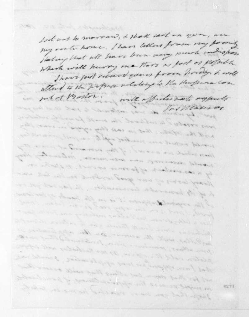 James Monroe to James Madison, July 22, 1815.
