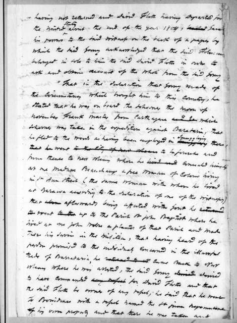James Pitot to Nicholas Girod, January 12, 1815
