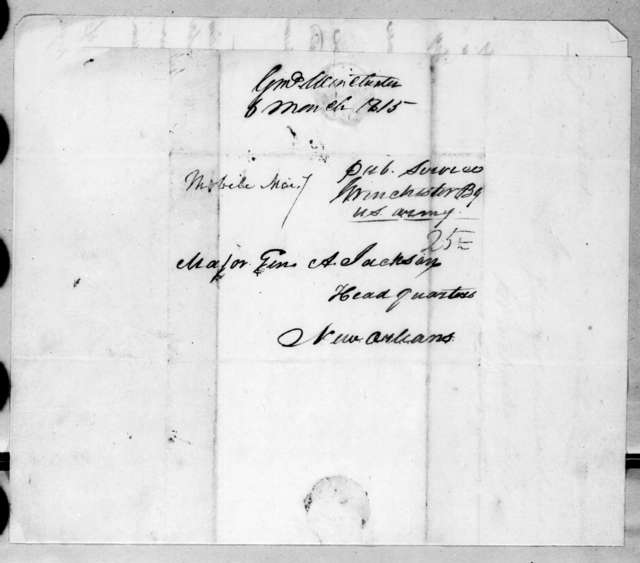 James Winchester to Andrew Jackson, March 6, 1815