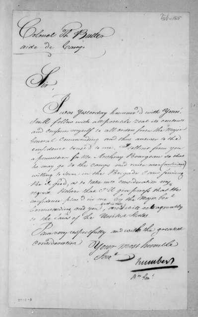 Jean Joseph Amable Humbert to Thomas Langford Butler