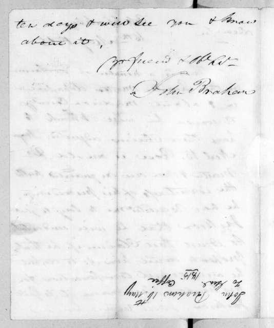 John Brahan to John Coffee, May 16, 1815