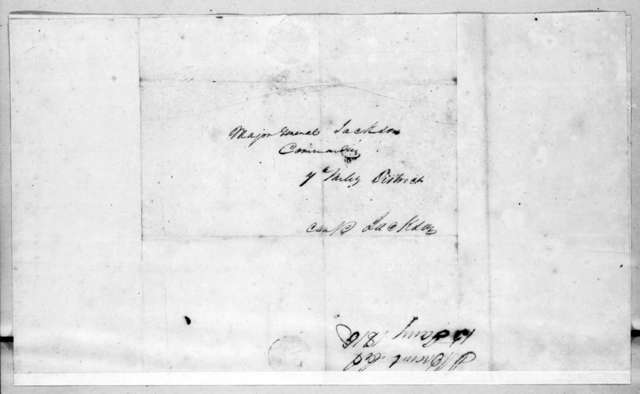 John Brandt to Andrew Jackson, January 16, 1815