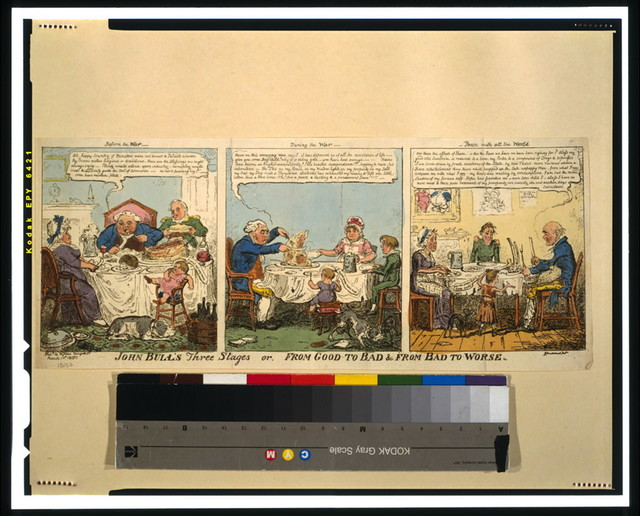 John Bull's three stages or, from good to bad & from bad to worse / G. Cruikshank fect.