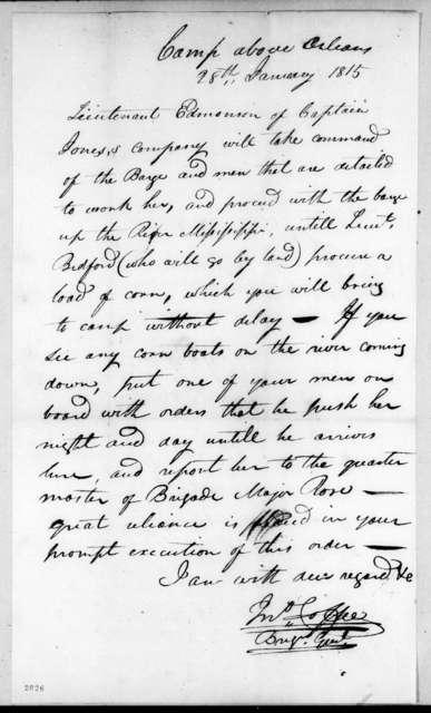 John Coffee, January 28, 1815