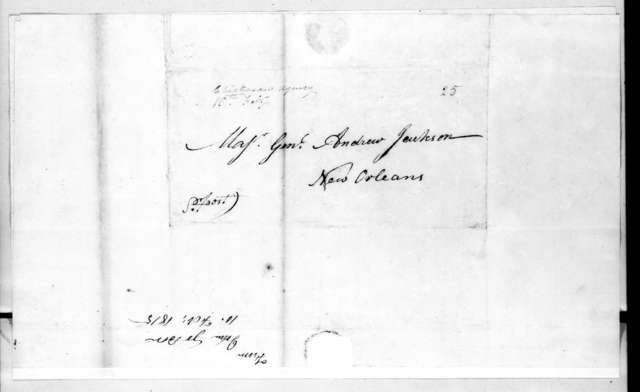 John Gordon to Andrew Jackson, February 10, 1815