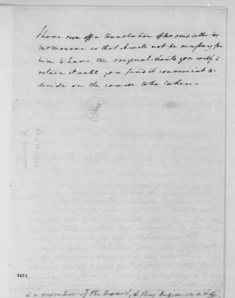 John Graham to James Madison, April 15, 1815.