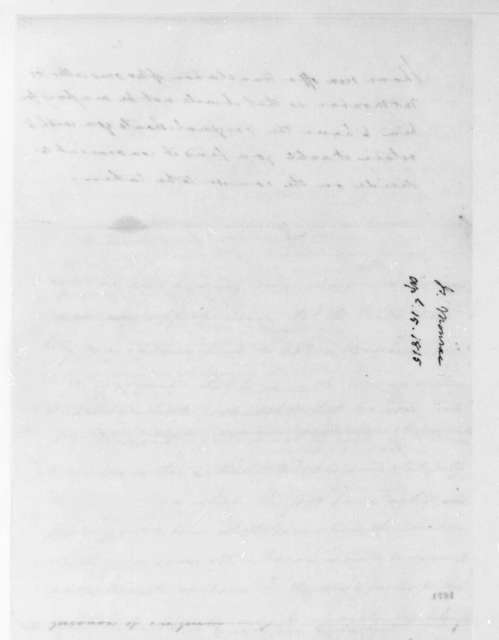 John Graham to James Madison, April 15, 1815.