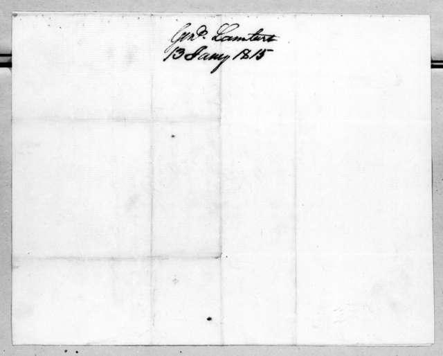 John Lambert to Andrew Jackson, January 13, 1815