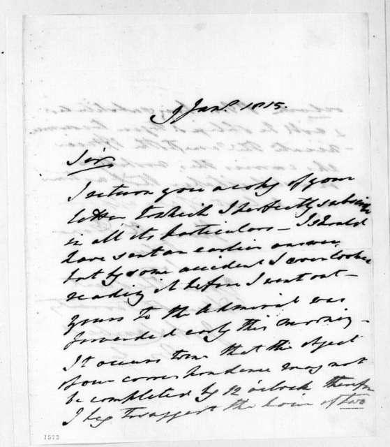 John Lambert to Andrew Jackson, January 9, 1815