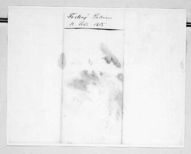 John Reid to Howell Tatum, February 15, 1815