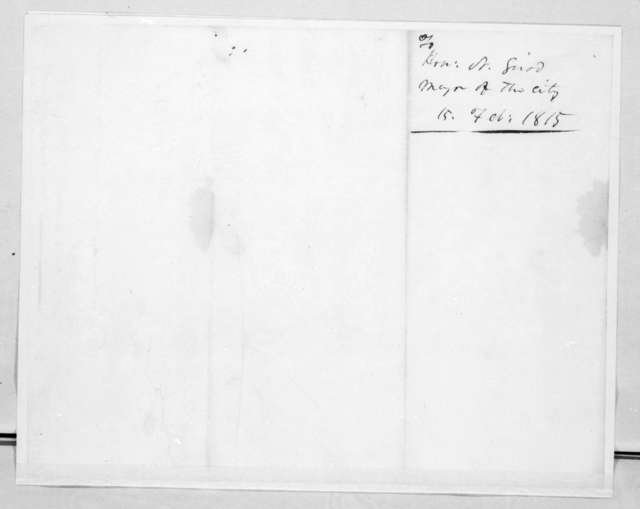 John Reid to Nicholas Girod, February 15, 1815