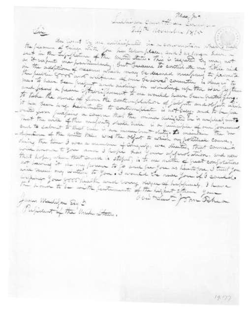 John Rhea to James Madison, November 24, 1815.