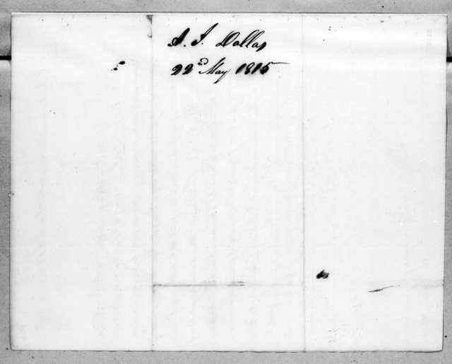 John Sevier to Alexander James Dallas, May 22, 1815