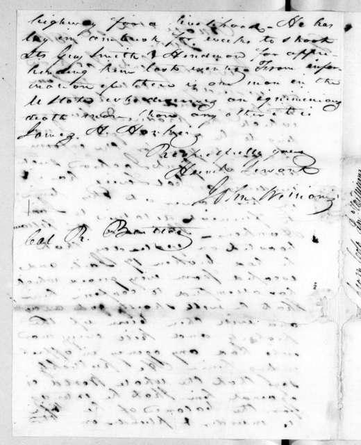 John Williams to Robert Butler, June 21, 1815