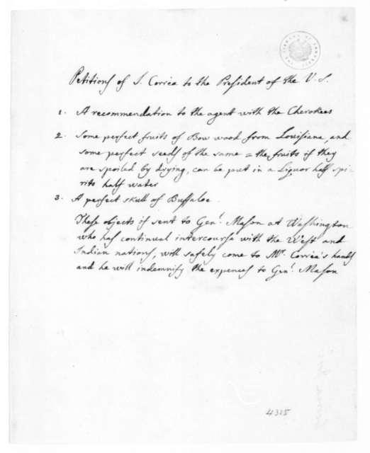 Joseph Correa de Serra to James Madison. 1815.