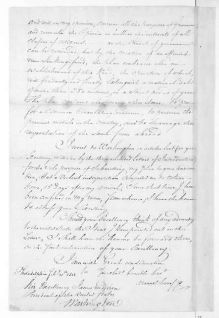 Manuel Torres to James Madison, February 11, 1815.