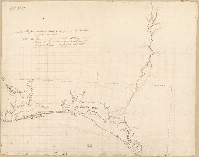 [Map of area from Pensacola Bay to St. Andrew's Bay, Spanish West Florida].