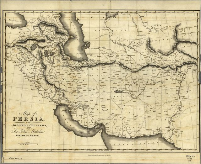 Map of Persia and adjacent countries, for Sir John Malcolm's History of Persia /
