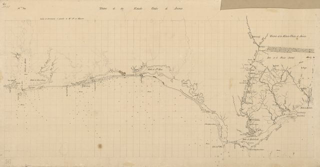 [Map of Spanish East and West Florida from Mobile Bay to Apalache Bay bounded by the United States boundary on the north].