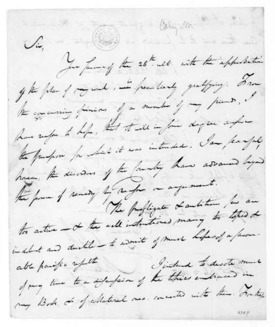 Mathew Carey to James Madison, February 3, 1815.