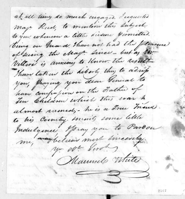 Maunsel White to Andrew Jackson, February 3, 1815