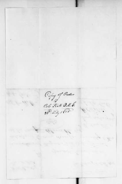 Military Papers - Jan. 17 - March 2, 1815, Vol. VI