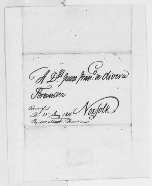 Monrivendi to Fernandez Oliviera, December 2, 1815