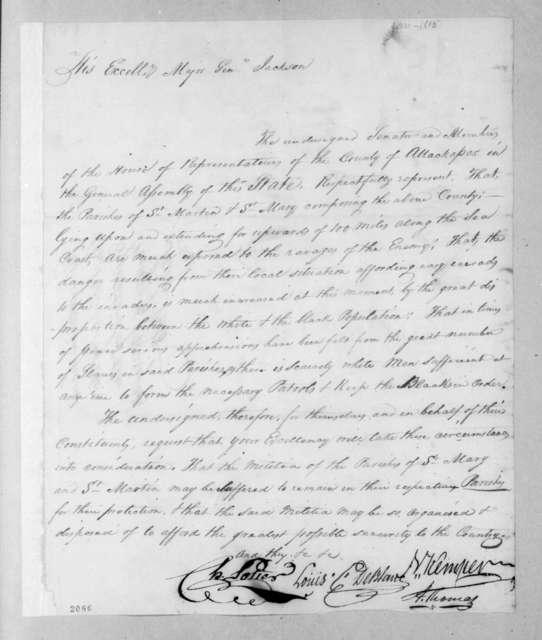 Nathaniel Kemper et al. to Andrew Jackson