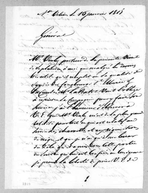 Nicholas Girod to Andrew Jackson, January 16, 1815