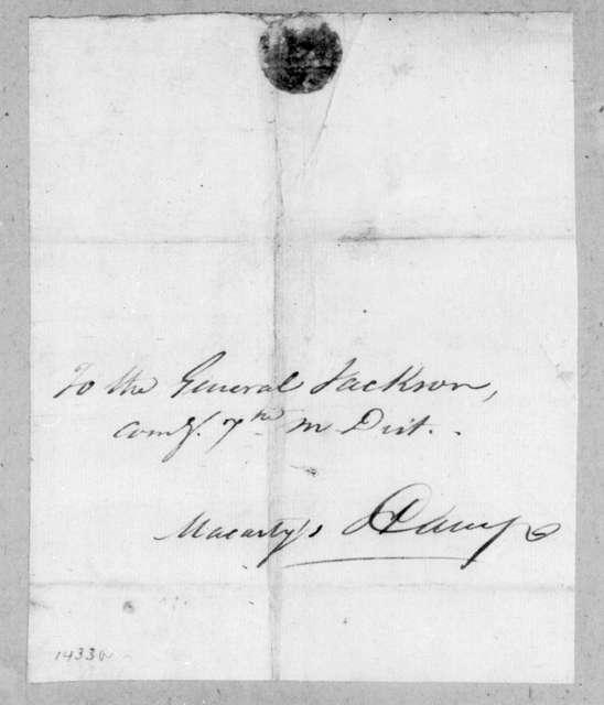 Nicholas Girod to Andrew Jackson, January 2, 1815