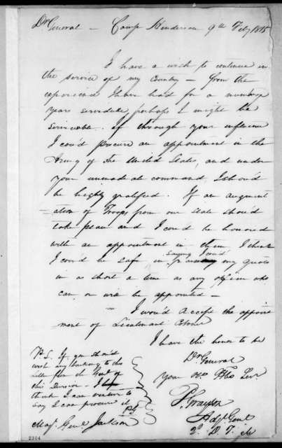 Peter W. Grayson to Andrew Jackson, February 9, 1815